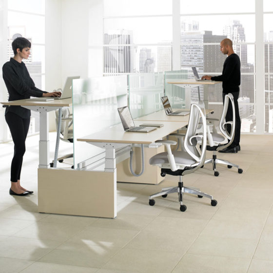 mint office furniture environment standing