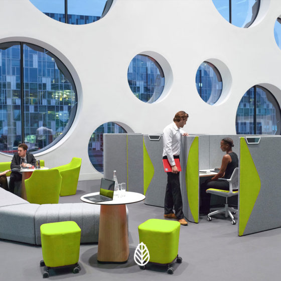 mint office breakout seating