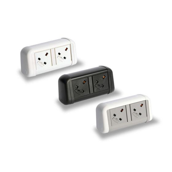 mint office furniture desk plug sockets
